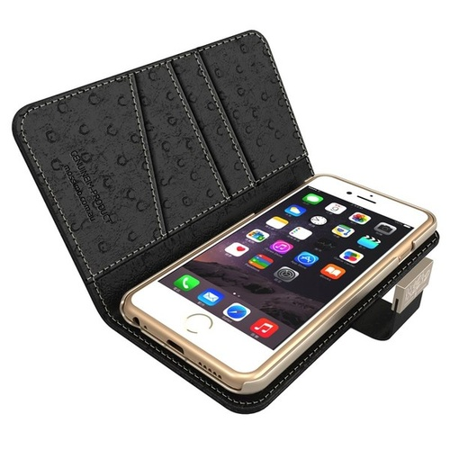 Mossimo Mag-Latch Fem Case suits iPhone 6 - Black Ostrich